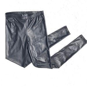 Topshop • Faux Leather Leggings, Black, Size 2